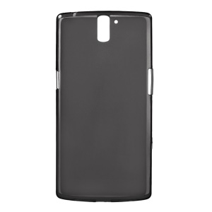 Double-sided Matte Glossy Edge TPU Cover for Oneplus One A0001 - Gray