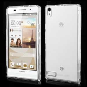 New Arrival Clear TPU Case for Huawei Ascend P6 - Transparet