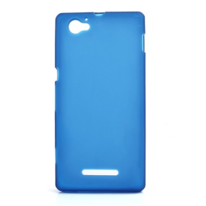 Dark Blue Double-side Matte TPU Cover for Sony Xperia M C1905 C1904 C2004 C2005