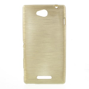 Gold Brushed TPU Shell for Sony Xperia C C2305 S39h