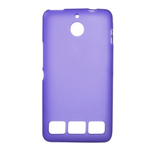 Purple Double-sided Matte TPU Skin Cover for Sony Xperia E1 D2004 D2005 / E1 Dual D2104 D2105 D2114