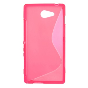 Rose S Shape Gel TPU Cover for Sony Xperia M2 D2303 / M2 Dual D2302 / M2 Aqua