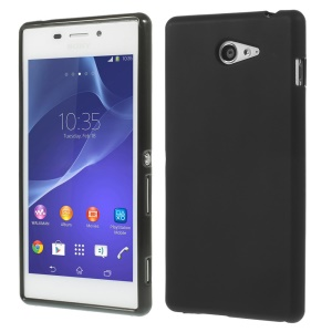 sided Frosted TPU Skin Case for Sony Xperia M2 D2303 / M2 Dual D2302