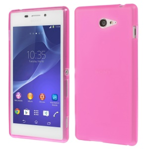 sided Frosted Flex TPU Case for Sony Xperia M2 D2303 / M2 Dual D2302