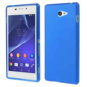 sided Frosted TPU Gel Case for Sony Xperia M2 D2303 / M2 Dual D2302