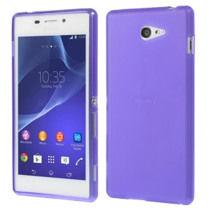 sided Frosted Gel TPU Cover for Sony Xperia M2 D2303 / M2 Dual D2302