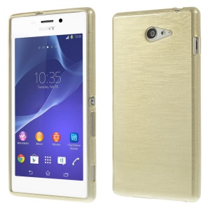 Brushed TPU Gel Case for Sony Xperia M2 D2303 / M2 Dual D2302 - Champagne