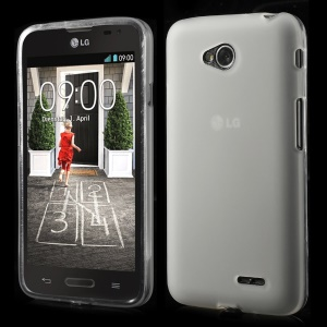 White Double-sided Matte TPU Gel Case for LG L70 D320 D320N (Glossy Edges)