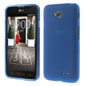 Dark Blue Double-sided Matte TPU Shell for LG L70 D320 D320N (Glossy Edges)
