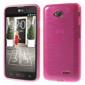 Rose Glossy Outer Brushed Inner TPU Phone Case for LG L70 D320 D320N