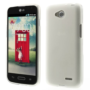 White Double-sided Frosted TPU Gel Case for LG L90 D405 (Glossy Edges)