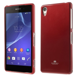 Red Mercury Goospery Pearl Powder TPU Jelly Case for Sony Xperia Z2 D6502 D6503 D6543
