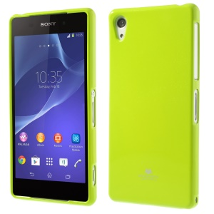Green Mercury Glossy Pearl Powder TPU Jelly Cover for Sony Xperia Z2 D6502 D6503 D6543