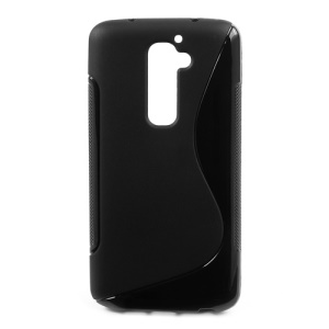 Black S-Curve TPU Gel Case for LG Optimus G2 D801 D802