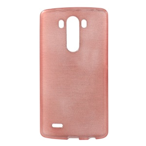 Pink Soft TPU Back Cover for LG G3 D850 D855 LS990 Glossy Outer Brushed Inner
