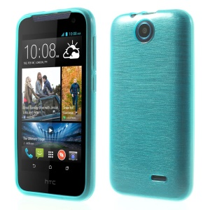 Soft TPU Skin Shell Glossy Outer Brushed Inner for HTC Desire 310 - Blue