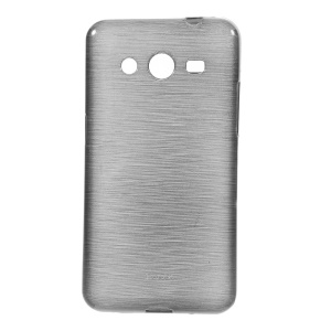Brushed Soft TPU Gel Cover for Samsung Galaxy Core 2 G355H - Grey