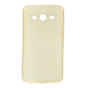 Brushed TPU Skin Case for Samsung Galaxy Core 2 G355H - Champagne
