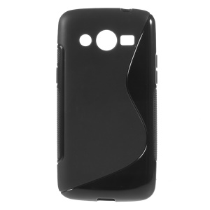 S-shaped Jelly TPU Case for Samsung Galaxy Core LTE G386F / Galaxy Avant G386T - Black