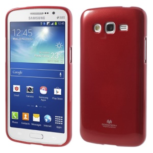 Red Mercury Glittery Powder TPU Cover Case for Samsung Galaxy Grand 2 Duos G7102 G7106