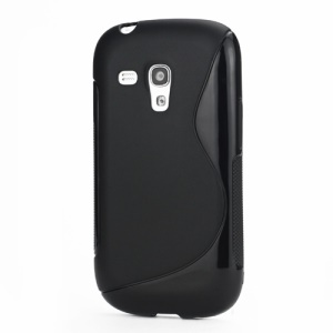 S-Curve TPU Gel Case Cover for Samsung Galaxy S III / 3 Mini I8190 - Black