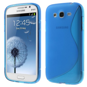 S-Line Soft TPU Gel Cover for Samsung Galaxy Grand I9080 I9082 / Neo I9060 I9062 - Blue