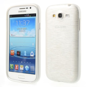 White for Samsung Galaxy Grand I9080 I9082 / Neo i9060 i9062 Brushed TPU Gel Case