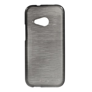 Brushed Soft TPU Case Cover for HTC One Mini 2 / M8 Mini - Black