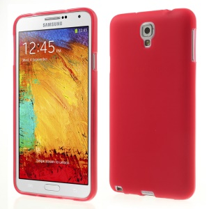 Red Double-sided Matte TPU Back Case for Samsung Galaxy Note 3 Lite N750 / Neo N7500 N7505