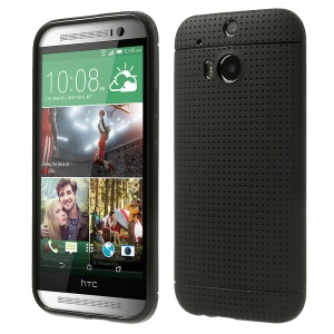 Black Concave Dots Design Flexible TPU Case for HTC One M8