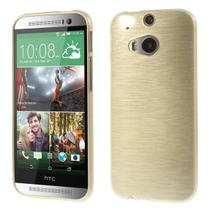 Champagne Glossy Outer Brushed Inner for HTC One M8 TPU Shell