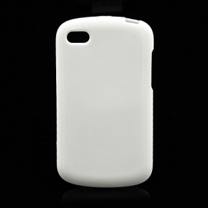 Solid Glossy TPU Case Cover for BlackBerry Q10 - White