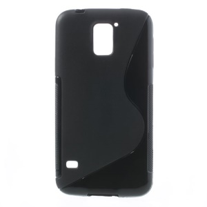 S Shape TPU Gel Back Case for Samsung Galaxy S5 G900 - Black