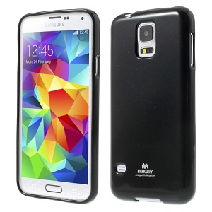 Black Mercury Shimmering Powder TPU Case for Samsung Galaxy S5 G900