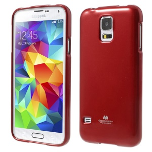 Red Mercury Shimmering Powder TPU Shell Case for Samsung Galaxy S5 G900