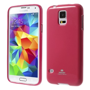 Rose Mercury Shimmering Powder TPU Shell for Samsung Galaxy S5 G900