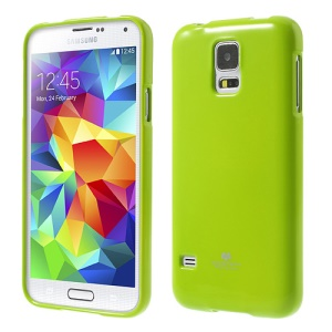 Green Mercury Shimmering Powder TPU Gel Cover for Samsung Galaxy S5 G900