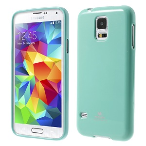Cyan Mercury Shimmering Powder TPU Shell Cover for Samsung Galaxy S5 G900