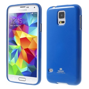 Dark Blue Mercury Shimmering Powder TPU Back Case for Samsung Galaxy S5 G900
