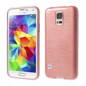 Pink Brushed TPU Case Shell for Samsung Galaxy SV GS 5 G900