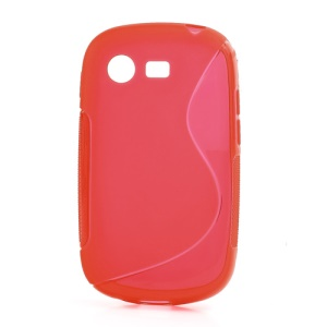 Red Anti-slip S Shape TPU Gel Case Cover for Samsung Galaxy Star S5280 S5282