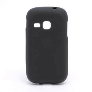 Matte Flexible Jelly TPU Case Cover for Samsung Galaxy Young S6310 S6312 S631 - Black