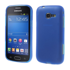 Dark Blue Double-side Matte TPU Cover Case for Samsung Galaxy trend Lite S7390 S7392
