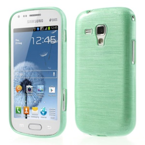 Green Brushed TPU Back Case for Samsung Galaxy S Duos S7562