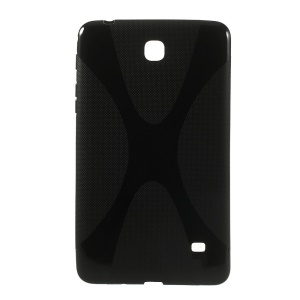 Black X Shape TPU Tablet Case for Samsung Galaxy Tab 4 7.0 T230 T231 T235