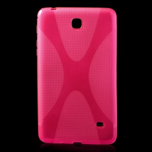 Rose X Shape TPU Gel Cover for Samsung Galaxy Tab 4 7.0 T230 T231 T235