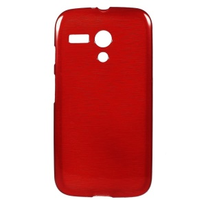 Red Brushed TPU Gel Cover for Motorola Moto G XT1032