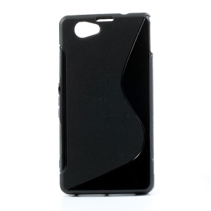 Black S-Line Wave TPU Case for Sony Xperia Z1 Mini Compact D5503