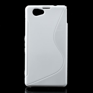 White S-Line Wave TPU Case for Sony Xperia Z1 Mini Compact D5503