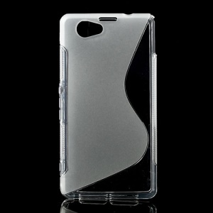 Transparent S-Line Wave TPU Cover for Sony Xperia Z1 Mini Compact D5503